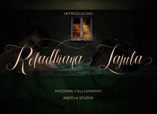 Refadhiana Lajuba Script Font