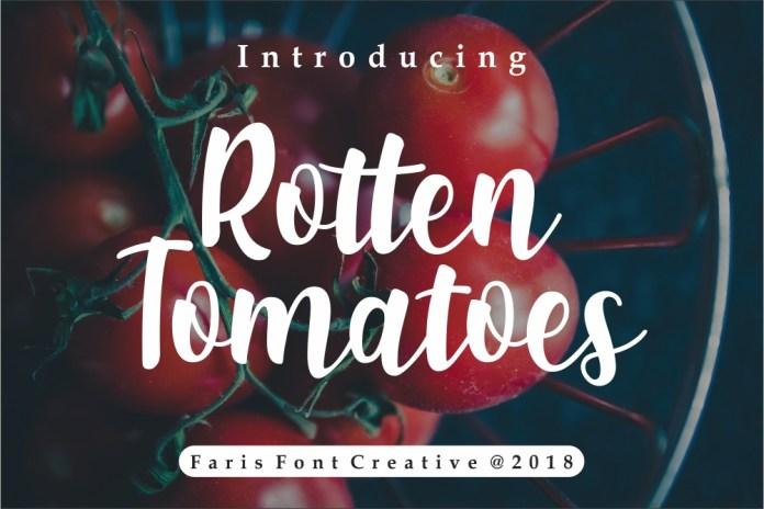 Rotten TomatoesScript Font
