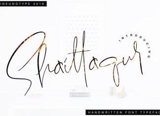 Shaittaqur Script Font