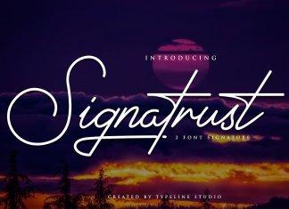 Signatrust / 2 Elegant Font