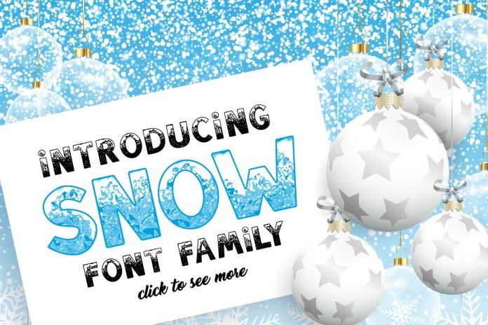 SNOW Font Family for Christmas