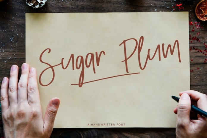 Sugar Plum with Extra Doodle Font
