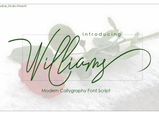 Williams Script Font