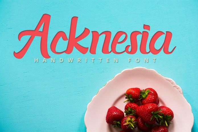 Acknesia Script Font