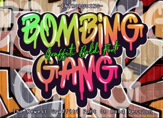 BOMBING GANG GRAFFITI BOLD FONTOther Font