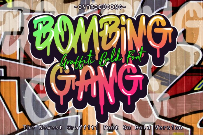 BOMBING GANG GRAFFITI BOLD FONTOther Font