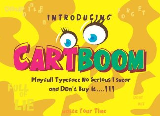 CARTBOOM FONT~NO SERIOUS DON'T BUY