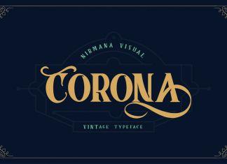Corona Vintage Typeface Font