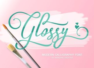 Glossy Font