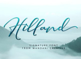 Hilland | Signature Font
