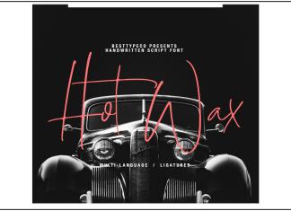 HotWax Script Font