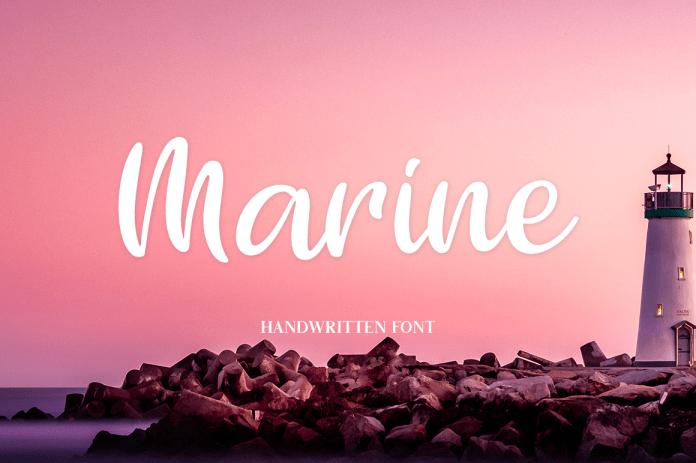 Marine Script Font