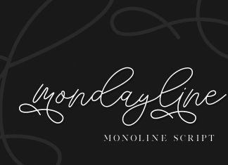 mondayline script font