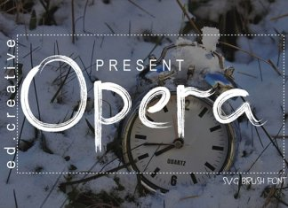 Opera Brush Font