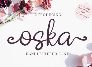 Oska Script Font