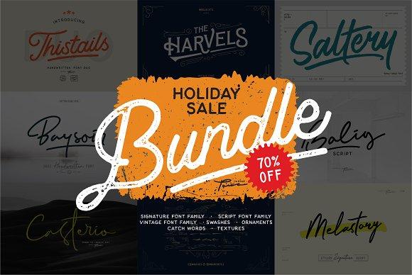 SALE!! All fonts Bundle OFF