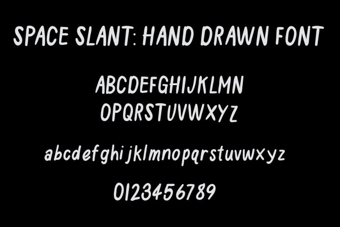 Space Slant Hand Drawn Font