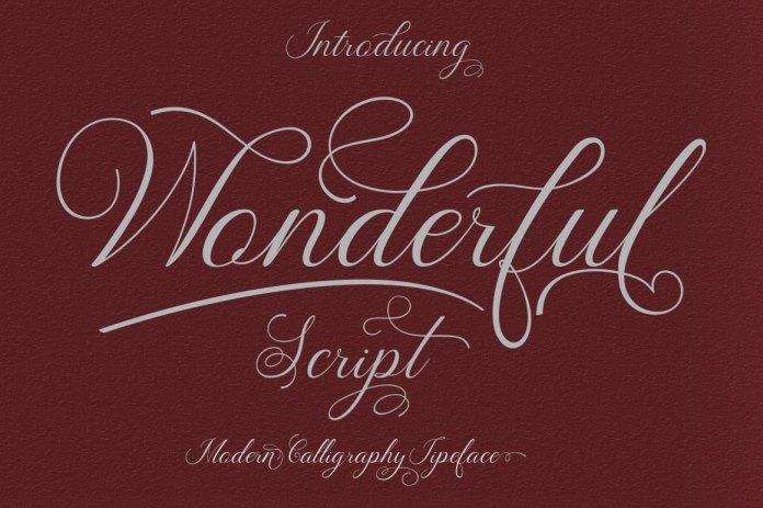 wonderful scriptScript Font