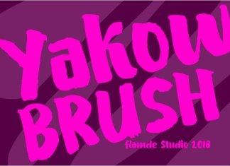 Yakow BRUSH Font