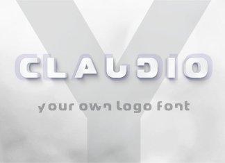 Claudio - Logo design font