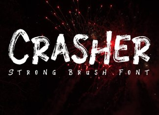 Crasher // Strong Brush Font