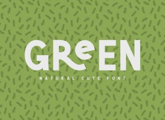 Green | Natural Cute Font