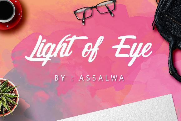 Light of Eyeb Font