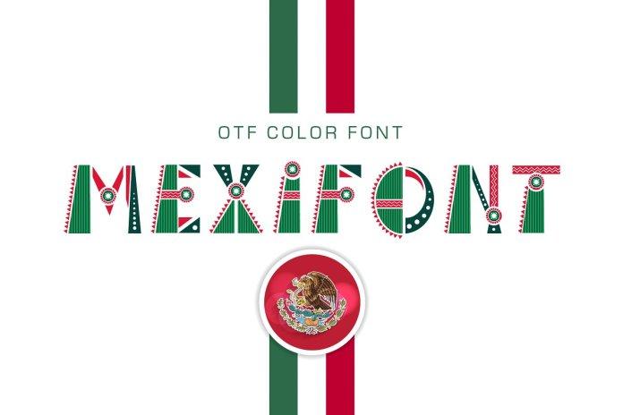 OTF color font Mexifont