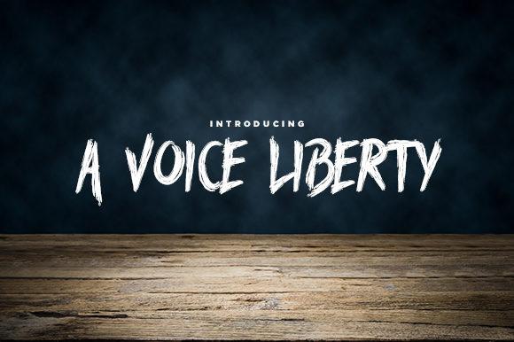 A Voice Liberty Font