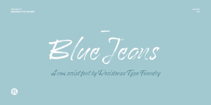 Blue Jeans Font