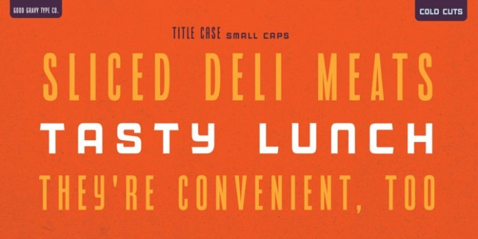 Cold Cuts Font Family