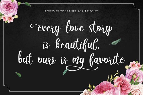 Forever Together - Romantic Font Duo