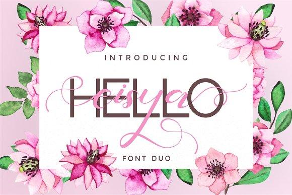 Hello Eisya - Font Duo
