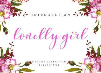 Lonelly GirlScript Font