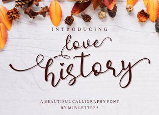 Love History Script Font