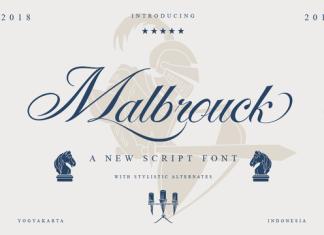 Malbrouck Script Font Family