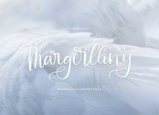 Margerlliny//Modern calligraphy font