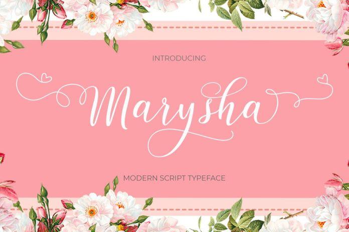 Marysha ScriptScript Font