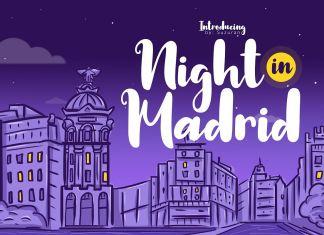 Night in Madrid Script Font