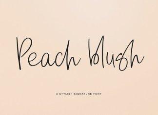 Peach blush Font