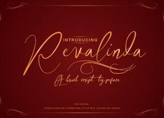 Revalinda brush Script Font