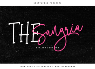 The Sangria Duo Font