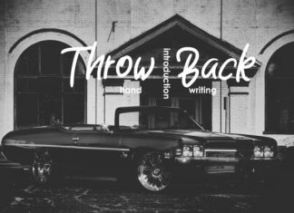 Throw Back Font