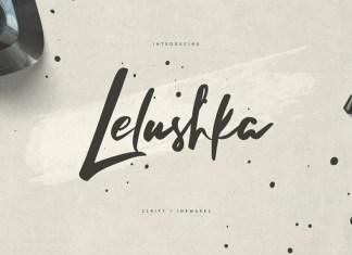 Lelushka Script and Ink Marks Font