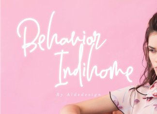 Behavior Indihome Signature Font