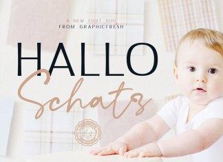 Hallo Schatz Font Duo Font