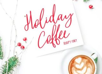 Holiday Coffee Font