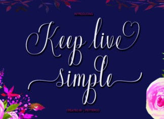 Keep Live Simple Font