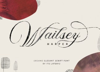 Miss Wailsey Organic Calligraphy Font