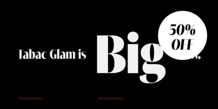 Tabac Big Glam Font Family